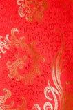 chiński czerwony się jedwab tradycyjne Fotografia Stock