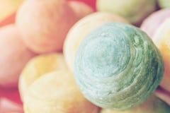 Chiński deser dzwonił Pia, antyczny deser Robić od mąki Piec upał Mashed złote fasole faszerować z solonym jajecznym yolk, chiny obrazy stock