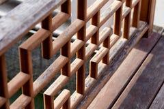 Chiński drewniany poręcz, balasa wzór Fotografia Stock