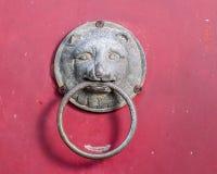 chiński drzwiowego knocker lew Zdjęcie Stock