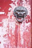 Chiński drzwiowy knocker fotografia royalty free