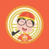 Chiński dziecko chłopiec kostium Fotografia Royalty Free