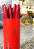 Chiński dzienny pomyślność narratora Chi Sticks† zdjęcia royalty free