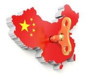 Chiński ekonomiczny rozpędu pojęcie Obraz Royalty Free