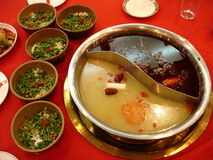 chiński gorący dzbanek pikantne Zdjęcia Royalty Free