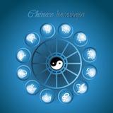 chiński horoskop royalty ilustracja