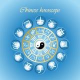 chiński horoskop ilustracji
