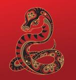 chiński horoskopu węża rok ilustracji