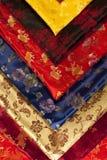 Chiński jedwab kolorowe próbki Obraz Royalty Free