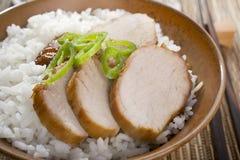 Chiński Jedzenie Przypala Siu Wieprzowinę fotografia stock