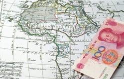 Chiński kapitał w Afryka Zdjęcia Royalty Free