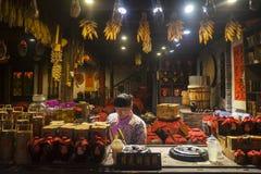 Chiński krajowy specjalności wina sklep Obrazy Royalty Free