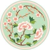 chiński kwiecisty deseniowy tradycyjny Obrazy Royalty Free