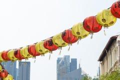Chiński lampionów wieszać Fotografia Stock