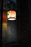 Chiński lampion przed malowidłem ściennym Zdjęcie Stock