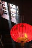 Chiński lampion w świątyni Zdjęcia Royalty Free