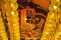 Chiński latern w Holowniczej okrzyki niezadowolenia Kong świątyni Butterworth Fotografia Royalty Free