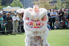 Chiński lew przy Norooz festiwalem Perską paradą i Obraz Royalty Free