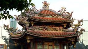 Chiński longshan świątynia dach w Taipei, Tajwan Zdjęcia Stock