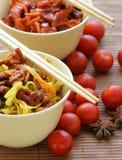 chiński makaron zdjęcia stock