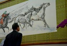 Chiński minister spraw zagranicznych Wang Yi przed spotkaniem zdjęcia royalty free