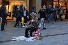 Chiński muzyk w Sydney zdjęcia stock