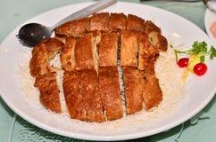 chiński naczynie smażący skóry tofu Fotografia Stock