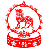 Chiński nowego roku koń Fotografia Royalty Free