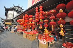 Chiński nowego roku rynek w Szanghaj obraz royalty free