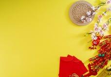 Chiński nowego roku sztandaru tło zdjęcia royalty free