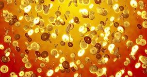 Chiński nowego roku tło, Złota monet 3 d tekstura zdjęcia stock