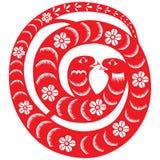 Chiński nowego roku wąż ilustracji