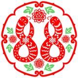 Chiński nowego roku wąż Zdjęcia Stock