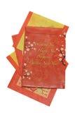 chiński nowy paczki czerwonym lat Obrazy Royalty Free