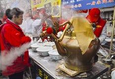 Chiński nowy rok świątyni jarmark Zdjęcie Stock