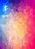 Chiński nowy rok Koźlie 2015 abstrakcjonistycznych ilustracj Zdjęcia Royalty Free