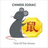 Chiński nowy rok mysz - rok szczur - royalty ilustracja