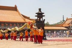 chiński nowy rok parady afryce kanonkop słynnych góry do południowego malowniczego winnicę wiosna Zdjęcia Stock
