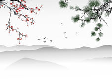 Chiński obraz royalty ilustracja