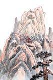 Chiński obraz wysoka góra ilustracja wektor