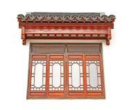 Chiński okno i dach obrazy royalty free