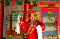 Chiński opera aktora przedstawienie w rocznej świątyni Obraz Royalty Free