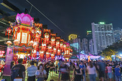 Chiński papierowy lampion w w połowie jesień festiwalu w Hong Kong Obrazy Stock