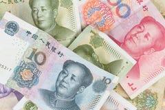 Chiński pieniądze tło Obrazy Royalty Free