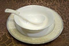 Chiński puchar z łyżką Fotografia Stock