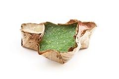 Chiński pudding z kokosowym grylażem w koszu Fotografia Royalty Free