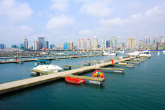 chiński Qingdao nabrzeża jacht Obraz Royalty Free