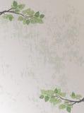 Chiński Retro styl Rozgałęzia się tło i Opuszcza Obrazy Royalty Free