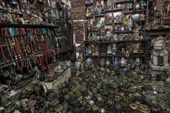 Chiński sklep wypełniał z tradycyjnymi pamiątkami od Chiny po całym Obrazy Stock
