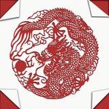 Chiński smok ciąca sztuka Zdjęcia Stock